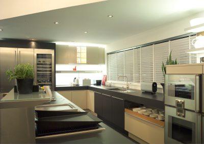 White Wooden Kitchen Shutters