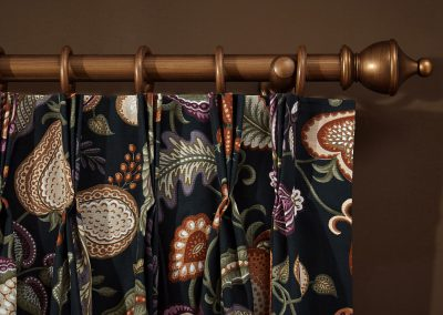 Arts and Crafts Eden Pinch Pleat Curtain