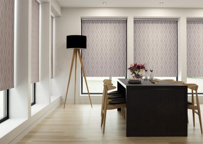 Allegra Grape Roller Blinds