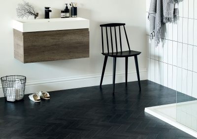 Amtico Form Embossed Wood Flooring Coal Grained Oak in Parquet