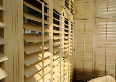 Beech Wooden Shutters Open