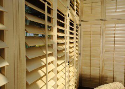 Beech Wooden Shutters Open