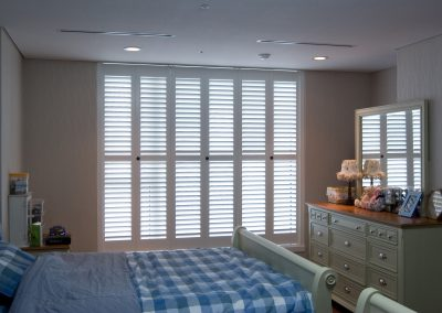 White Closed Bedroom Shutters