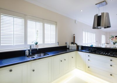 White Gloucester Kitchen Shutters