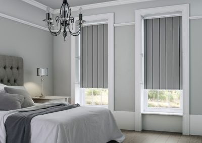 Harper Ash Striped Roller Blinds