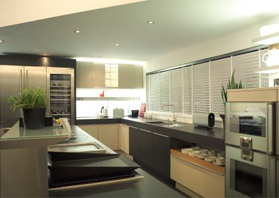 White Wooden Kitchen Shutters
