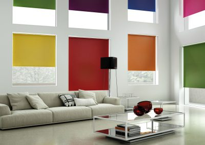 Splash Coloured Roller Blinds Various