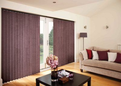 Vertical Blinds Chenille Mulberry