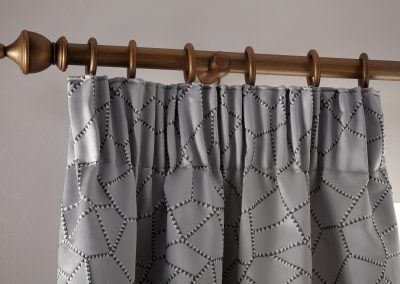 Charleston Heather Pencil Pleat Curtains