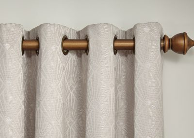 Charleston Putty Eyelet Heading Curtains
