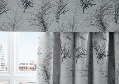 Charleston Graphite Curtains and Pelmet